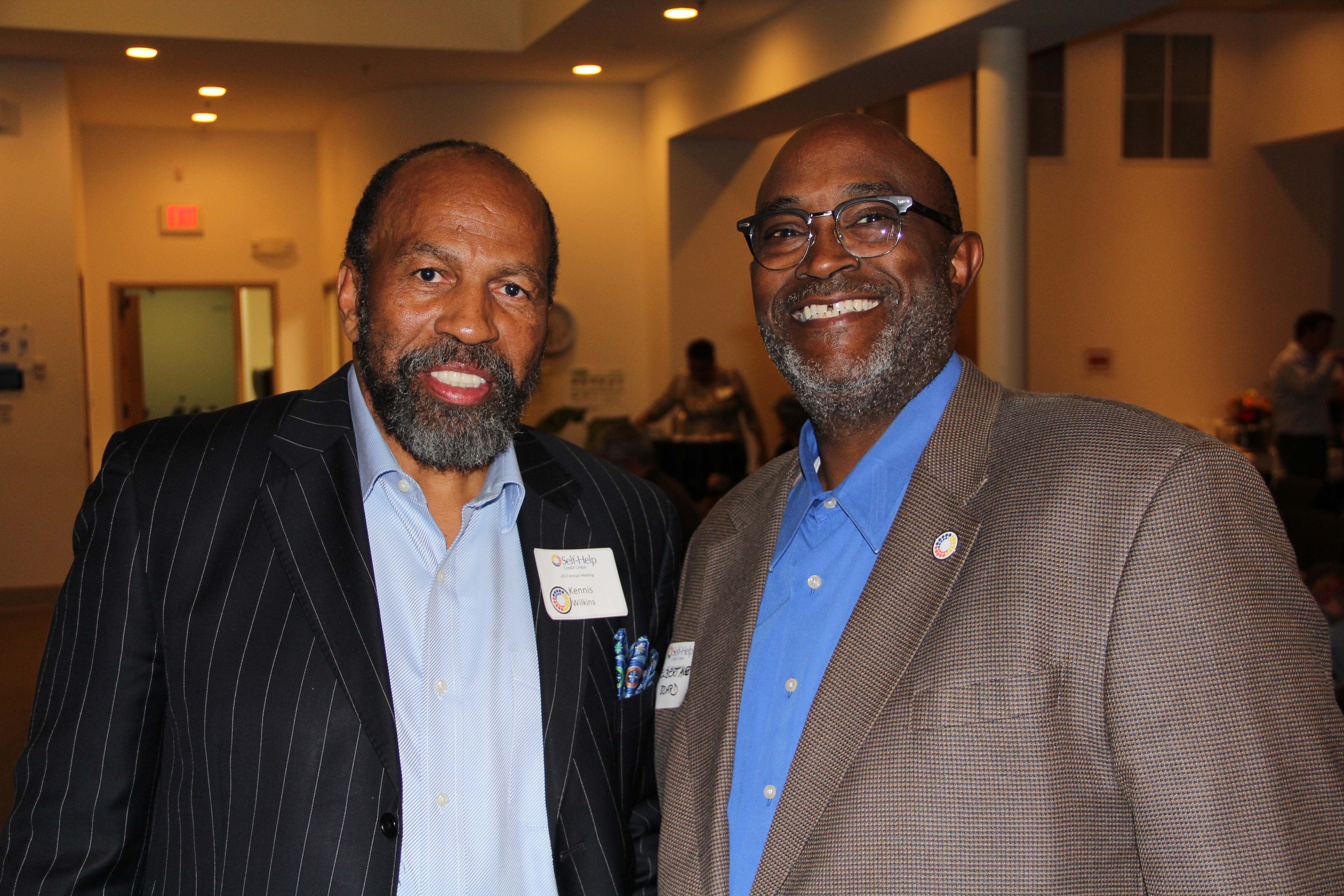 Self-Help members Kennis Wilkins and Elbert Avery attended the annual meeting on Wednesday