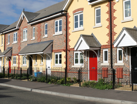 affordable homes on a street