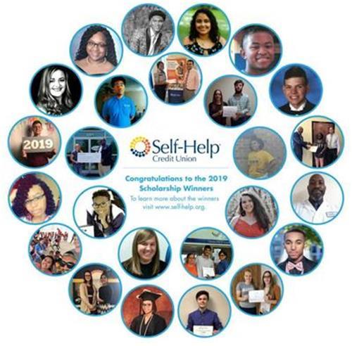Collage of 2019 SHCU scholarship winners