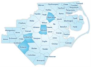map of eligible NC counties