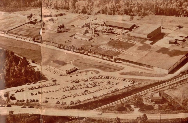 old aerial photo of Henredon Furniture plant in Morganton