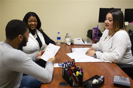 Shondra Tanner, Jajuan Monroe and Sharita Hines in Raleigh branch 2020