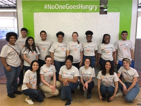 2019 Self-Help summer interns volunteering for hunger prevention