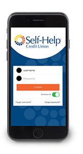 Self-Help's new mobile banking app will be available on iOS and Android devices.