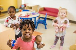 Children at Reedy Fork child care center in Greensboro, NC