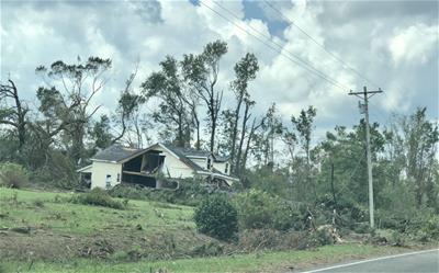 Home hit by tornado