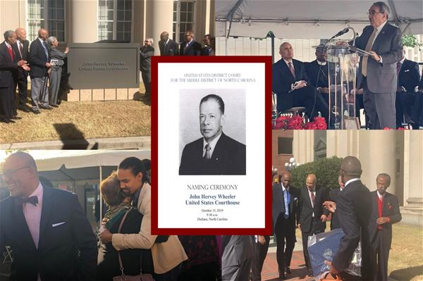 Photos of ceremony to name a Durham federal building after John Hervey Wheeler
