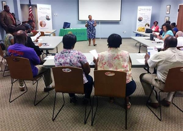 Self-Help staff lead a home buyers' workshop in Wilson, NC