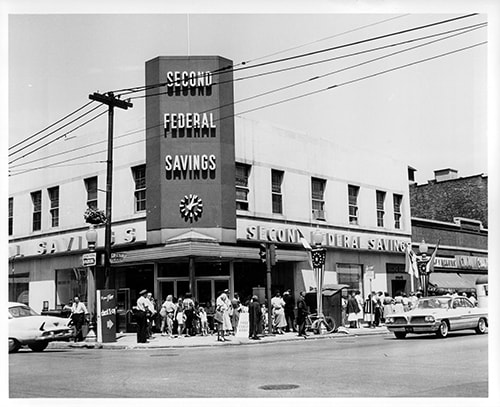 Old photo of Second Federal in Chicago