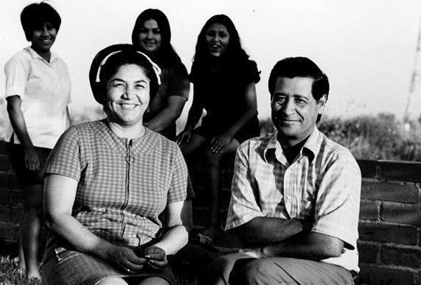 Cesar Chavez and Helen Fabela Chavez family