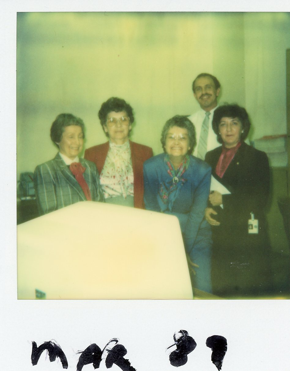 Staff of Scotland Credit Association in 1989