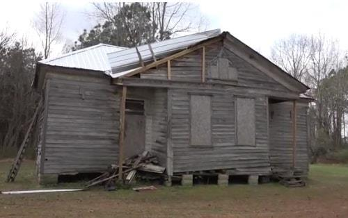Rosenwald schoolhouse, first home of St. Luke Credit Union  beginning in 1944.